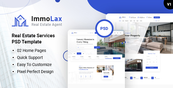 [Free Download] Immolax – Real Estate Services PSD Template (Nulled) [Latest Version]