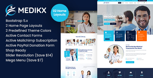 [Free Download] Medikx – Healthcare HTML Template (Nulled) [Latest Version]