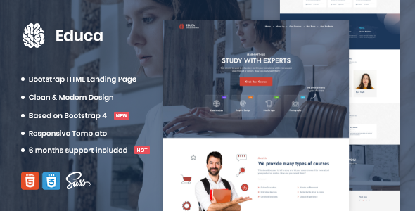 [Free Download] Educa | Landing Page Template (Nulled) [Latest Version]
