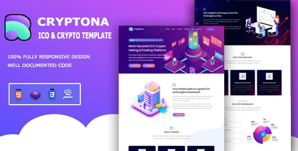 [Free Download] Cryptona – ICO and Crypto Template (Nulled) [Latest Version]