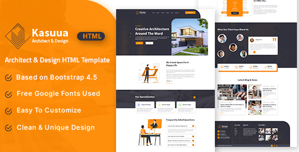 [Free Download] Kasuua – Architect & Design HTML Template (Nulled) [Latest Version]