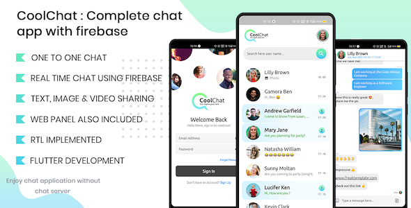 [Free Download] Cool Chat – Firebase Chat Application In Flutter (Nulled) [Latest Version]