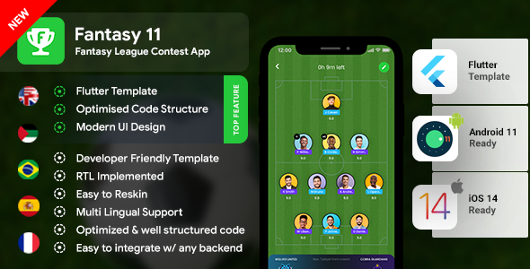 [Free Download] Fantasy League Contest Sports App Android + iOS Template | Flutter | Fantacy 11 (Nulled) [Latest Version]