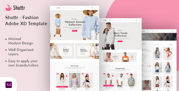 [Free Download] Shuttr – Fashion eCommerce Adobe XD Template (Nulled) [Latest Version]