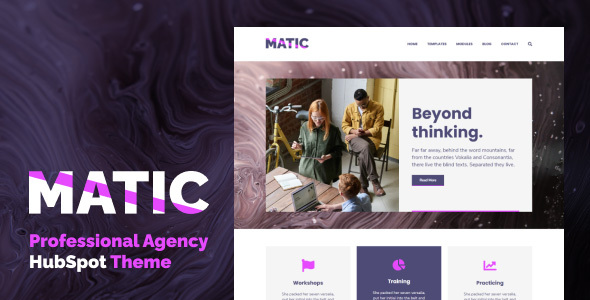 [Free Download] Matic – Professional Agency HubSpot Theme (Nulled) [Latest Version]
