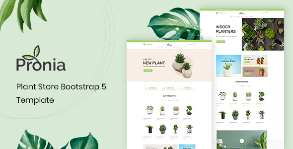 [Free Download] Pronia – Plant Store Bootstrap 5 Template (Nulled) [Latest Version]