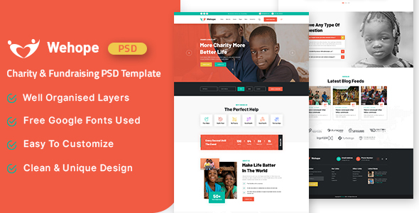 [Free Download] Wehope – Charity & Fundraising PSD Template (Nulled) [Latest Version]