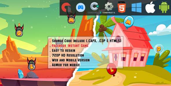 [Free Download] Letters Typing – 2 HTML5 Games 40% OFF – Web, Mobile and FB Instant games(CAPX, C3p and HTML5) (Nulled) [Latest Version]