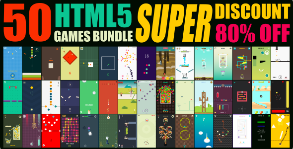 [Free Download] 50 GAMES BUNDLE / HTML 5 / CONSTRUCT 3 (Nulled) [Latest Version]