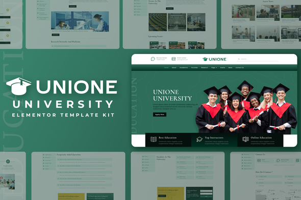 [Free Download] Unione – University Elementor Template Kit (Nulled) [Latest Version]