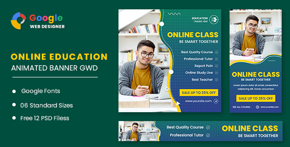 [Free Download] Online Class Animated Banner GWD (Nulled) [Latest Version]