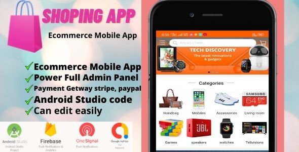 [Free Download] Shoping Ecommerce Mobile App (Nulled) [Latest Version]
