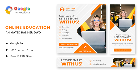 [Free Download] Education Animated Banner GWD (Nulled) [Latest Version]