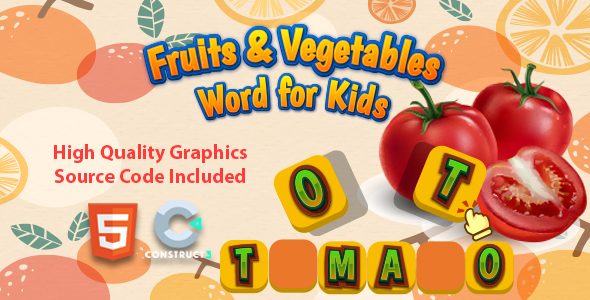 [Free Download] Fruits & Vegetables Word for Kids (Nulled) [Latest Version]