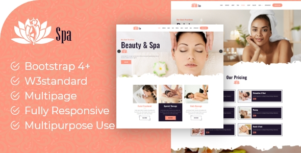 [Free Download] Lotus Spa – Beauty Creative HTML5 Template (Nulled) [Latest Version]