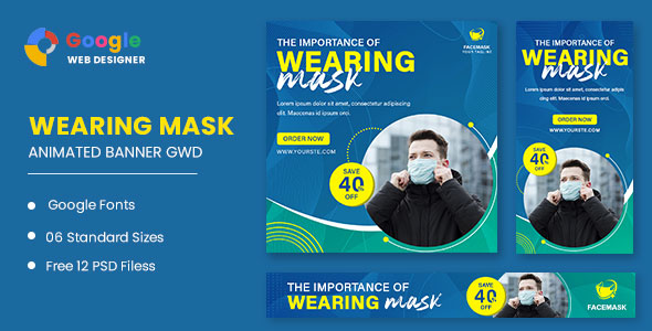 [Free Download] Wearing Mask Animated Banner GWD (Nulled) [Latest Version]