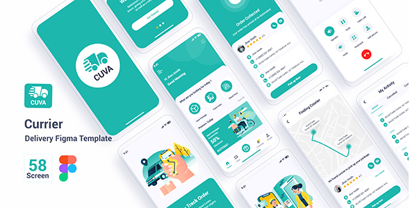 [Free Download] Cuva – Currier Delivery Figma Template (Nulled) [Latest Version]