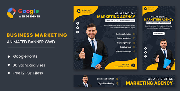 [Free Download] Marketing Agency Google Adwords Banner Animated GWD (Nulled) [Latest Version]