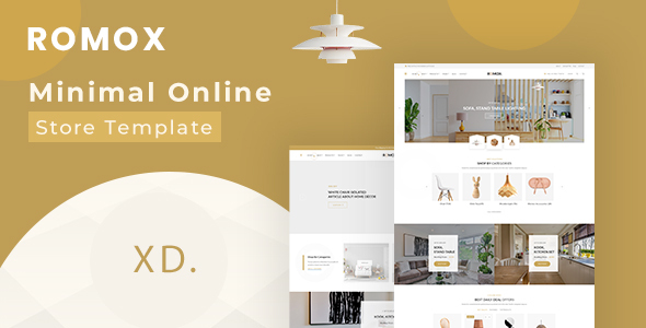 [Free Download] Romox – Minimal Ecommerce XD Template (Nulled) [Latest Version]