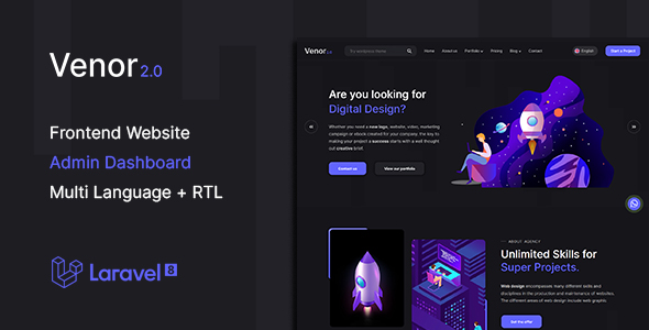 [Free Download] Venor – Multipurpose Website CMS & Creative Agency Management System (Nulled) [Latest Version]