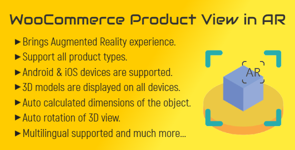 [Free Download] WooCommerce Product View in AR (Augmented Reality) | 3D Product View (Nulled) [Latest Version]
