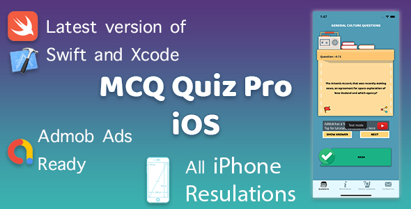 [Free Download] MCQ Quiz Pro (iOS App) (Nulled) [Latest Version]