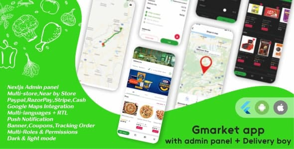 [Free Download] GMarket |Grocery, Pharmacy, Food & Courier Delivery App |Multi-Vendor Marketplace (Next JS Backend) (Nulled) [Latest Version]