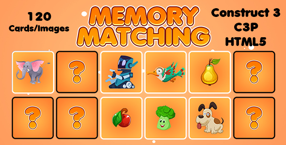 [Free Download] Memory Matching Picture Puzzle Game (Construct 3 | C3P | HTML5) Admob and FB Instant Support (Nulled) [Latest Version]