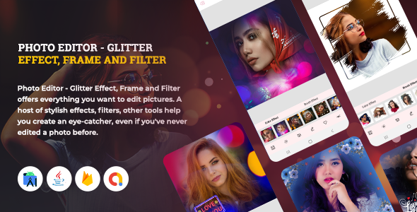 [Free Download] PhotoArt PhotoEditor – Glitter Effect, Frame and Filter | Android 11 Support (Nulled) [Latest Version]
