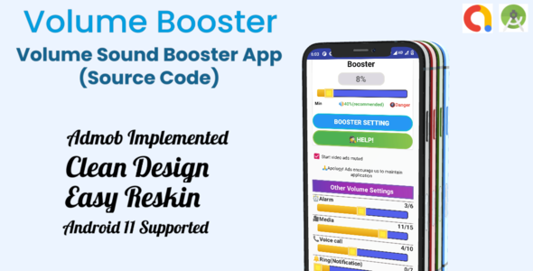 [Free Download] Volume Booster App Template Source Code. with Admob & Android 11 (Nulled) [Latest Version]