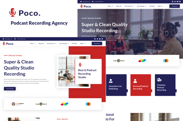 [Free Download] Poco – Podcast Recording Studio Services Elementor Template Kit (Nulled) [Latest Version]