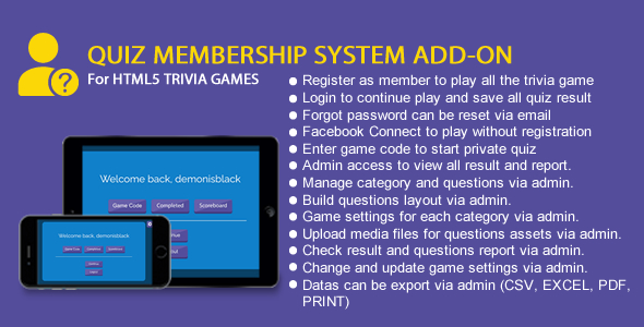 [Free Download] Quiz Membership System Add-On (Nulled) [Latest Version]
