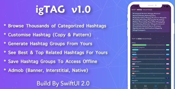 [Free Download] igTAG : Hashtags for Instagram & TikTok (Nulled) [Latest Version]