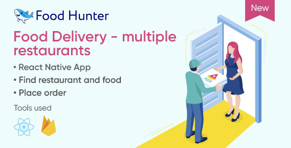 [Free Download] Food delivery mobile app with React & Firebase – Food Hunter (Nulled) [Latest Version]