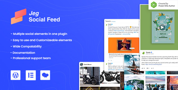 [Free Download] Jeg Social Feed for WordPress Widget Shortcode & Add Ons for Elementor & WPBakery Page Builder (Nulled) [Latest Version]