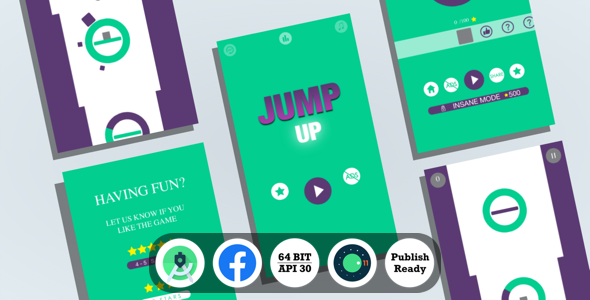 [Free Download] Jump Up : (Android Studio+Facebook Ads+Reward Video+Inapp+Leaderboard+ready to publish) (Nulled) [Latest Version]