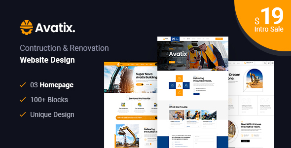 [Free Download] Avatix – Construction and Renovation HTML Template (Nulled) [Latest Version]