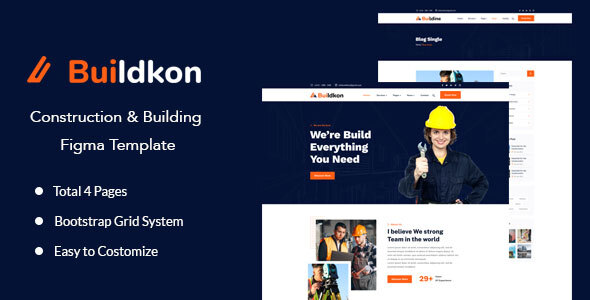 [Free Download] Buildkon – Construction & Building Figma Template (Nulled) [Latest Version]