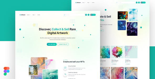 [Free Download] Etheum – NFT Marketplace Figma UI Template (Nulled) [Latest Version]