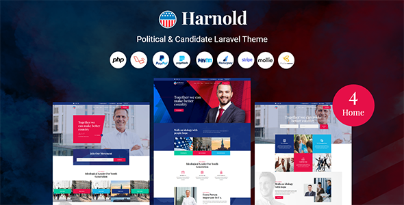 [Free Download] Harnold – Political CMS (Nulled) [Latest Version]