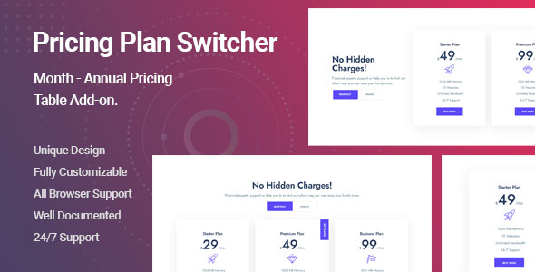 [Free Download] Ultimate Pricing Plan Switcher Addon for Elementor (Nulled) [Latest Version]