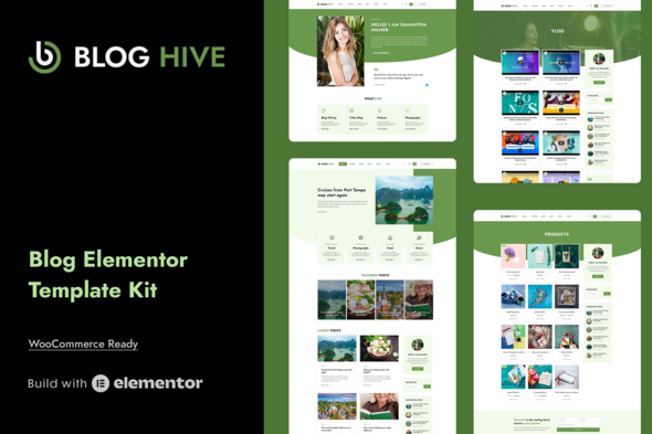 [Free Download] Blog Hive – Personal Blog Elementor Template Kit (Nulled) [Latest Version]
