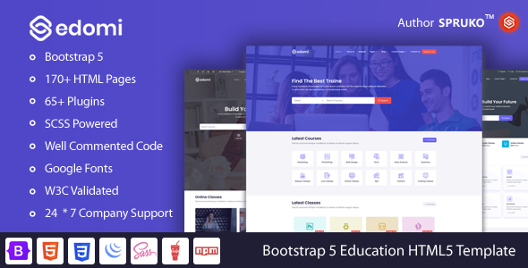 [Free Download] Edomi – Bootstrap 5 Education, Learning Courses HTML Template (Nulled) [Latest Version]