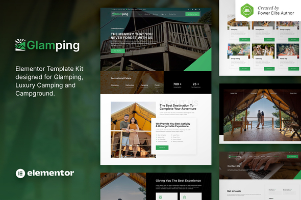[Free Download] Glamping – Luxury Camping & Campground Elementor Template Kit (Nulled) [Latest Version]