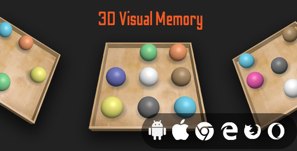 [Free Download] 3D Visual Memory – Html5 Educational Game (Nulled) [Latest Version]