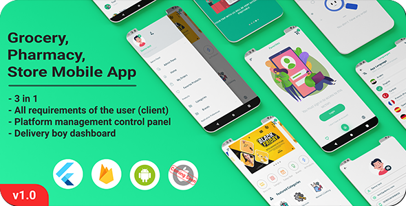 [Free Download] Grocery, Pharmacy, Store Mobile App (Nulled) [Latest Version]