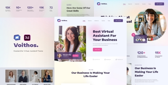 [Free Download] Voithos – Virtual Assistant Website Template for Adobe XD (Nulled) [Latest Version]