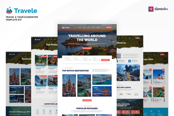 [Free Download] Travele – Travel & Tour Agency Elementor Template Kit (Nulled) [Latest Version]