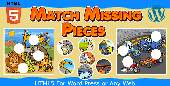 [Free Download] Match Missing Pieces Game (HTML5) Kids Learning Game (Nulled) [Latest Version]