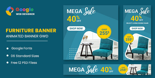 [Free Download] Furniture Sale Google Adwords HTML5 Banner Ads GWD (Nulled) [Latest Version]